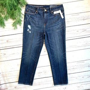 NWT I*Talbots*I High Rise Straight Crop Jeans